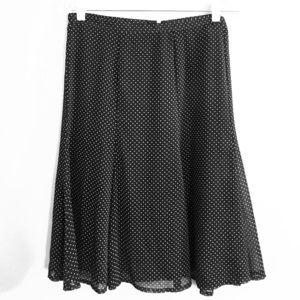 Sag Harbor Petite XL Polka Dot Skirt lined
